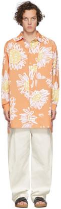 Jacquemus Orange La Chemise Paul Shirt
