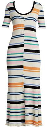 Kenzo Striped Bodycon Maxi Dress