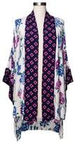 Merona Women's Mixed Print Floral Kimono Jacket