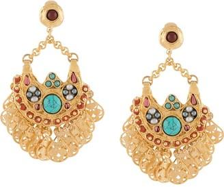 Gas Bijoux Eventail filigree-tassel earrings