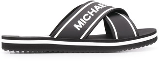 MICHAEL Michael Kors Sparrow logo print slides