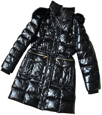 DKNY Black Synthetic Coats