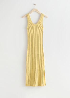 And other stories Rib Knit Midi Dress