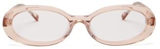 Le Specs Outskirt Oval-frame Acetate Glasses - Womens - Light Pink
