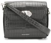 Alexander McQueen crocodile-effect shoulder bag