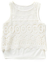Jessica Simpson Big Girls 7-16 McKenna Crocheted Tank Top