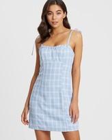 Calli Cecelia Tie Strap Mini Dress