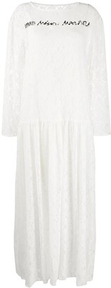 MM6 MAISON MARGIELA Printed Logo Lace Dress