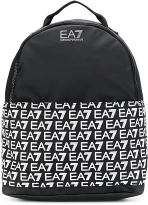 Emporio Armani Ea7 all-over logo backpack