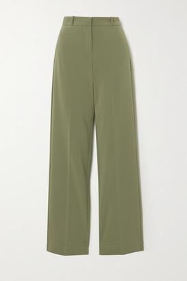 PARIS GEORGIA Basil Crepe Straight-leg Pants - Army green