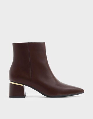 Charles & KeithCharles & Keith Metal Accent Block Heel Ankle Boots
