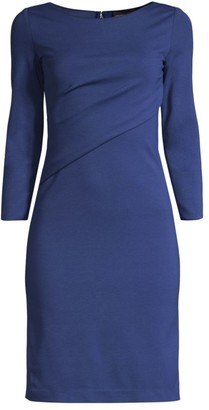Emporio Armani Twist Neck Viscose-Blend Dress
