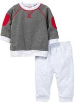 Isaac Mizrahi Fleece Top & Pant Set (Baby Boys)