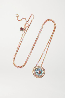 Selim Mouzannar Beirut 18-karat Rose Gold, Aquamarine And Diamond Necklace - one size