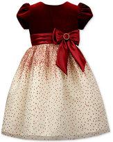 Jayne Copeland Velvet-Bodice Glitter Gown, Toddler Girls (2T-5T)