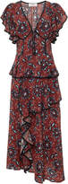 Sea Tallulah Floral-Print Silk Crepe de Chine Midi Dress