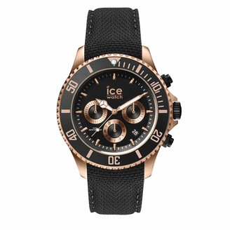 Ice Watch Ice-Watch - ICE steel Black Rose-Gold - Chrono - Men's wristwatch with silicon strap - Chrono - 016305 (Large)