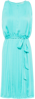 Diane von Furstenberg Belted Pleated Crepon Dress
