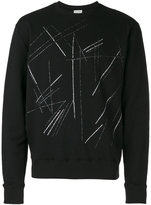 Saint Laurent scratch print sweatshirt