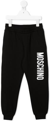 MOSCHINO BAMBINO Logo Print Track Pants