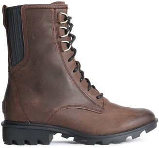 Sorel Phoenix Lace-up Leather Ankle Boots