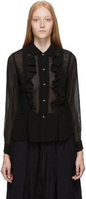 Comme des Garçons Comme des Garçons Black Ruffle Georgette Shirt