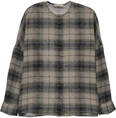 Sessun Checked Oversized Catalina Shirt Grey