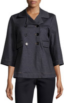 Label by 5Twelve 3/4-Sleeve Double-Button Jacket, Denim