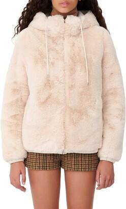 Maje Faux Fur Hooded Jacket