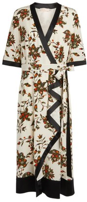 Tory Burch Floral Printed Wrap Dress