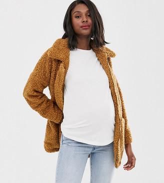 Mama Licious Mamalicious maternity multi functional teddy coat