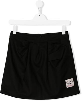 No21 Kids TEEN a-line mini skirt