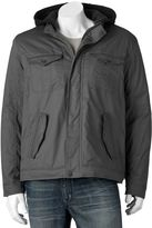 Urban Republic Men's Sherpa-Lined Hooded Twill Jacket