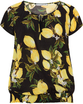 Studio Plus Size Lemon print top