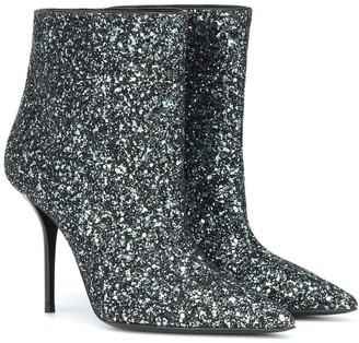 Saint Laurent Pierre 95 glitter ankle boots