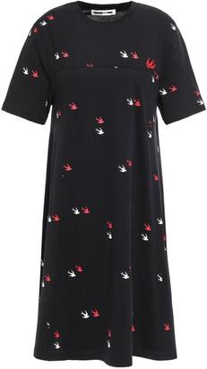 McQ Printed Cotton-jersey Mini Dress