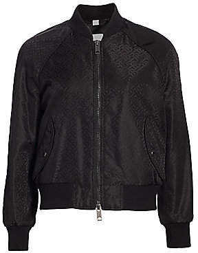 Burberry Women's Harlington TB Monogram Jaquard Bomber Jacket