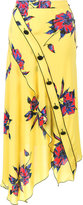 Proenza Schouler asymmetric floral print skirt - women - Silk - 4