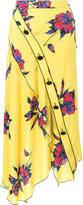 Proenza Schouler asymmetric floral print skirt
