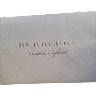 Burberry Grey Cotton Trench Coat for Women