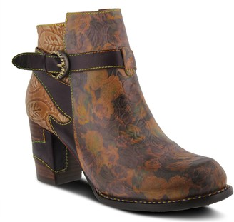 Spring Step L'Artiste Floral Leather Booties - Tallulah