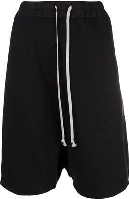 Rick Owens drawstring drop-crotch shorts