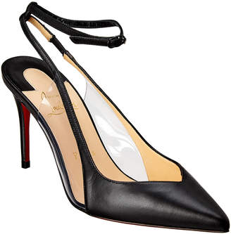 Christian Louboutin Optichoc 85 Leather & Pvc Slingback Pump