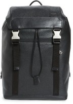 Jack Spade Men's Army Leather Backpack - Black