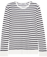 Alexander Wang Striped Jersey Top - Ivory
