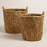Natural Sweater Weave Abbie Baskets
