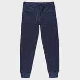 Paul Smith Men's Navy Blue Organic-Cotton Sweatpants
