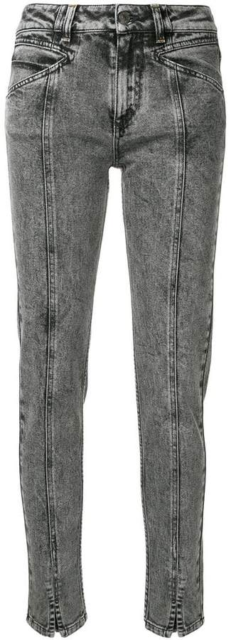 Givenchy high-waist lightning bolt jeans