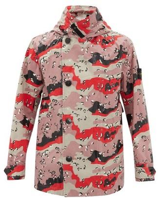 Stone Island Desert Camo-print Cotton-tela Hooded Jacket - Pink