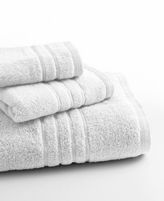 "Lenox Bath Towels, Platinum Solid 13"" Square Washcloth"